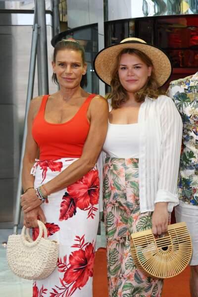 La princesse Stéphanie et sa fille Camille Gottlieb à la soirée Fight Aids à Monaco, le 13 juillet 2019.