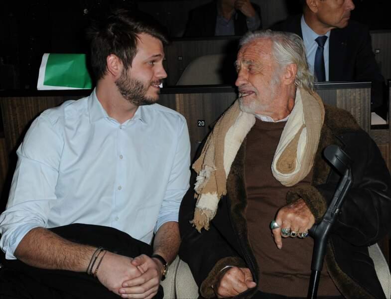 Jean-Paul Belmondo et son petit-fils Alessandro Belmondo
