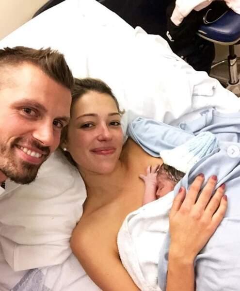Morgan, Camille Schneiderlin et Maé à la maternité