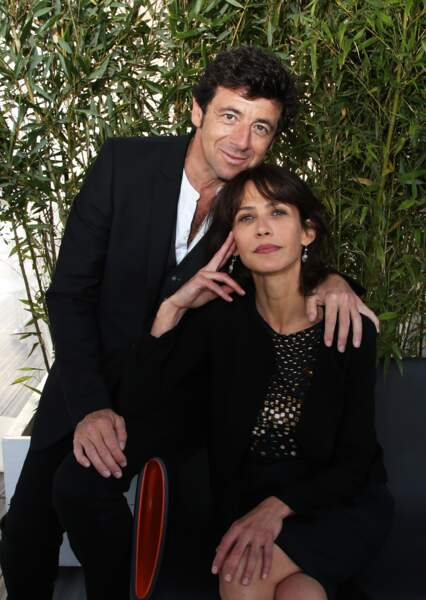 """Sophie Marceau et Patrick Bruel à Cannes, présentent le film """"Tu veux ou tu veux pas"""" à Cannes en 2014"""