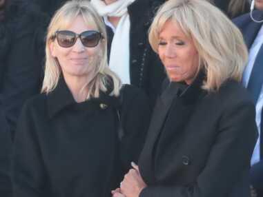 PHOTOS - Brigitte Macron en pleurs lors de l'hommage national à Charles Aznavour