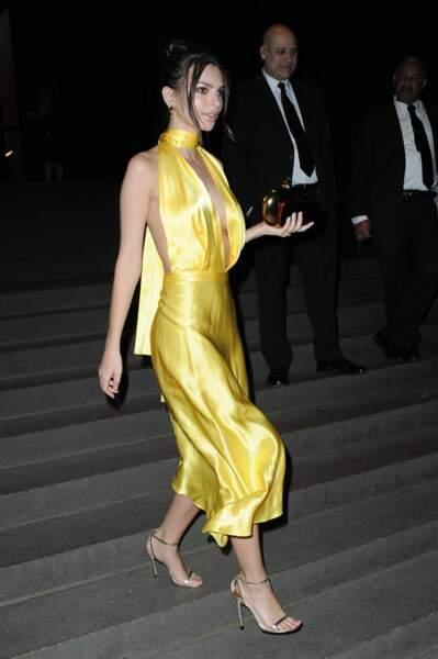 Emily Ratajkowski au mariage de Marc Jacobs à New York, le 6 avril 2019