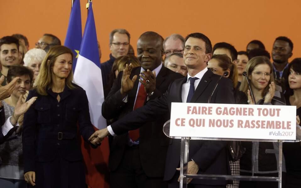 Le couple sur la tribune au moment du discours