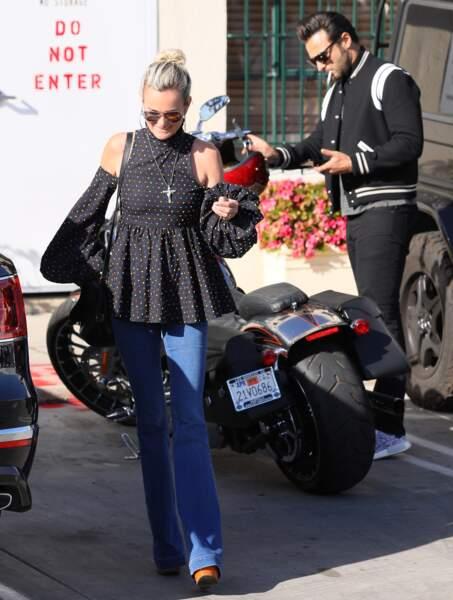 Laeticia Hallyday aperçue dans les rues de Los Angeles accompagnée de Maxim Nucci, le 24 janvier dernier