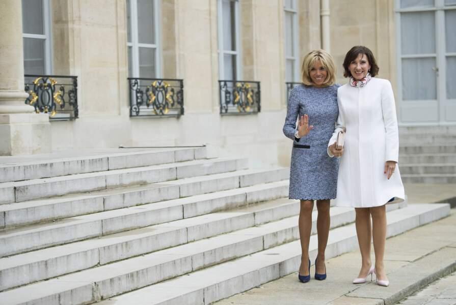 Brigitte Macron et Carmen Iohannis, la femme du président roumain très complices