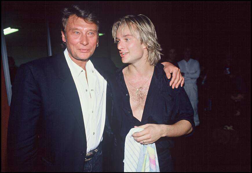 Johnny et David Hallyday sur la tournée de David en 1991