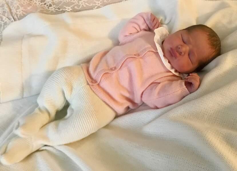 La princesse Adrienne, fille de Madeleine de Suède, néé le 9 mars 2018