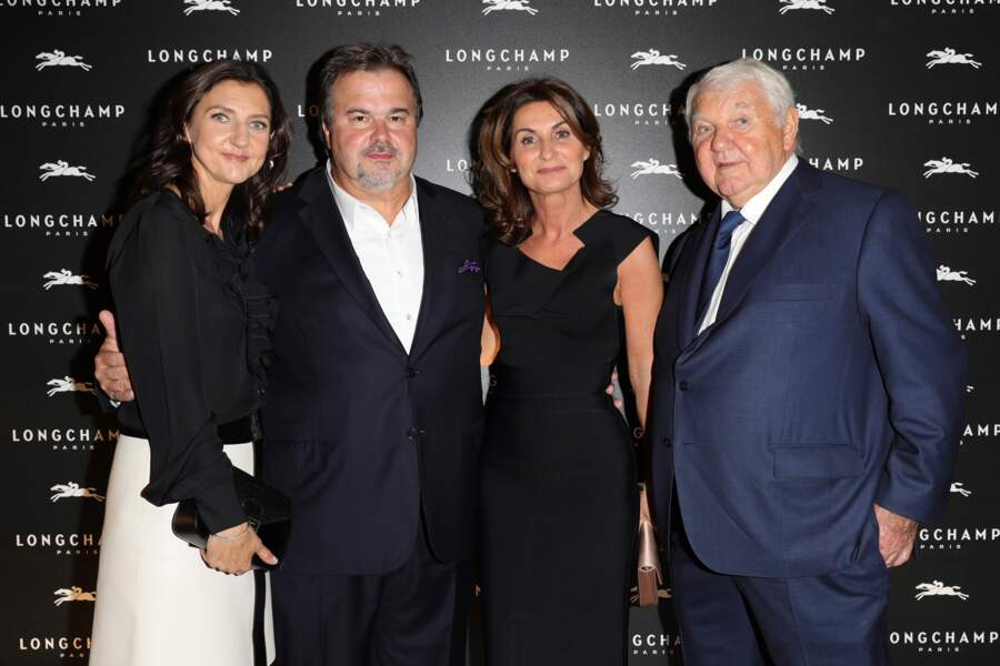 Sophie Delafontaine, Pierre Hermé avec sa compagne et Philippe Cassegrain, président