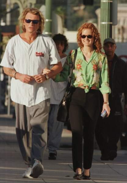 Décembre 1996, le couple en balade dans les rues de Los Angeles.