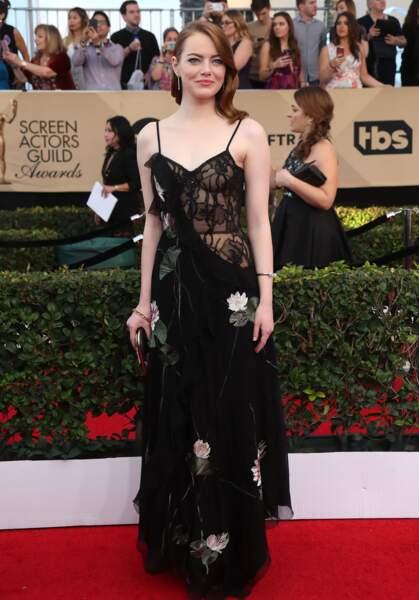 Emma Stone sur le tapis rouge des SAG Awards