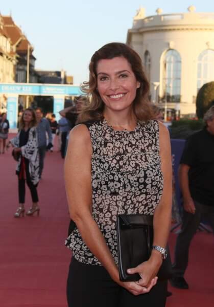 La journaliste Daphné Roulier (51 ans), lors du festival de Deauville, en 2016