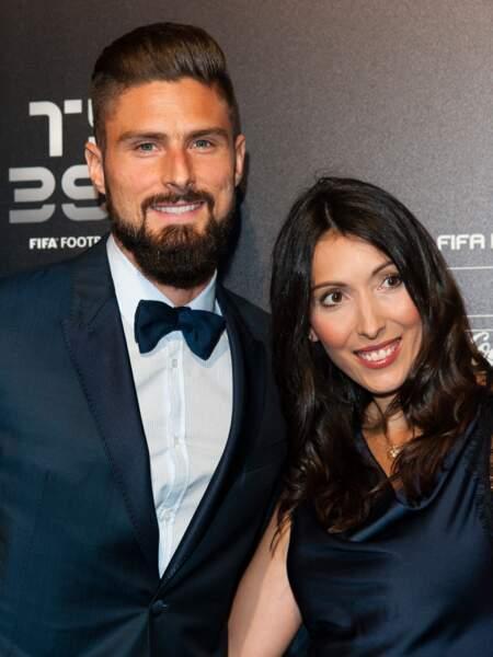 Olivier Giroud et son épouse Jennifer, le 23 octobre 2017