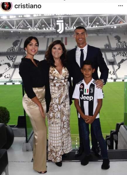Cristiano Ronaldo en famille