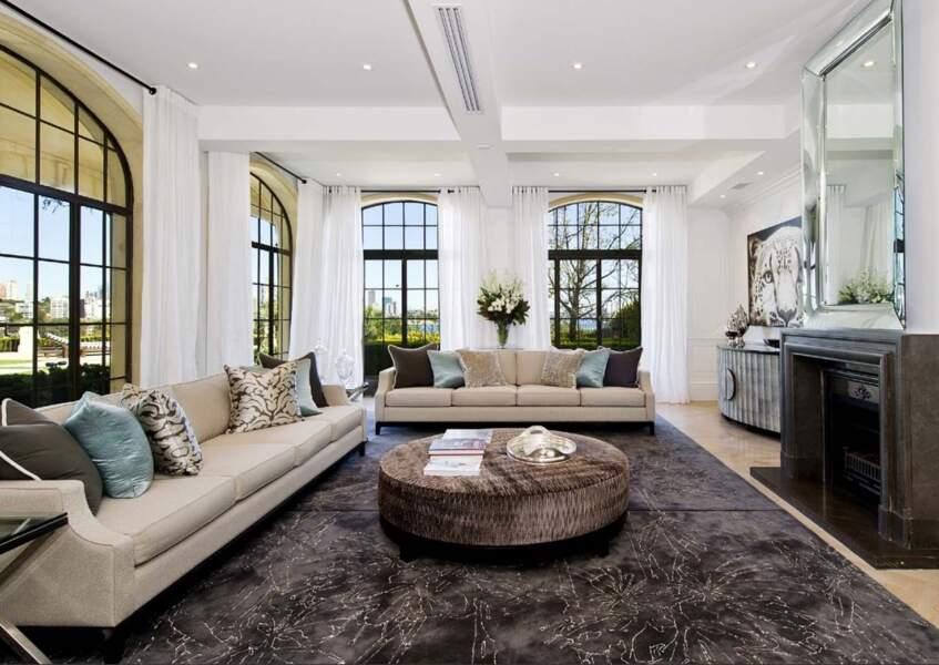 L'un des salons de la villa de Meghan Markle et du prince Harry en Australie