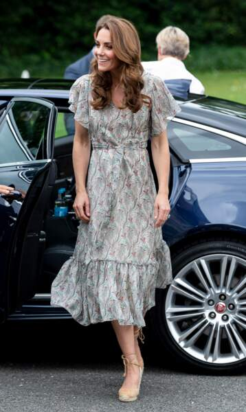 Kate Middleton, lors d'un atelier à la Royal Photographic Society à Londres, le 25 juin 2019