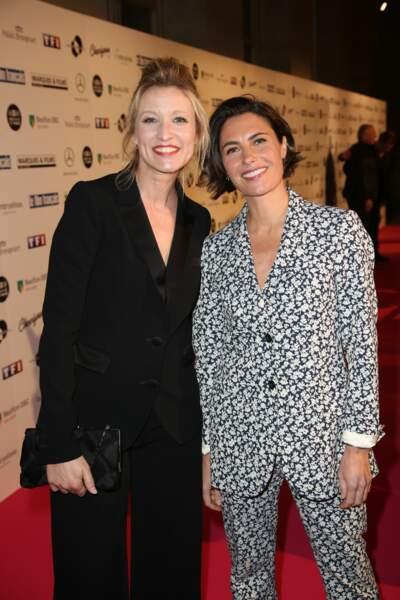 Alessandra Sublet aux côtés d'Alexandra Lamy lors de la 26e cérémonie des Trophées du film français ce 5 février