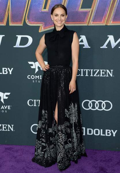 """Natalie Portman fait sensation lors de l'Avant-première du film """"Avengers : Endgame"""" à Los Angeles, le 22 avril 201"""