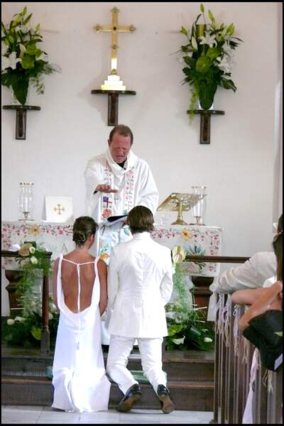 Alessandra Sublet et Thomas Volpi se sont mariés religieusement en avril 2008 sur l'île de Saint-Barth