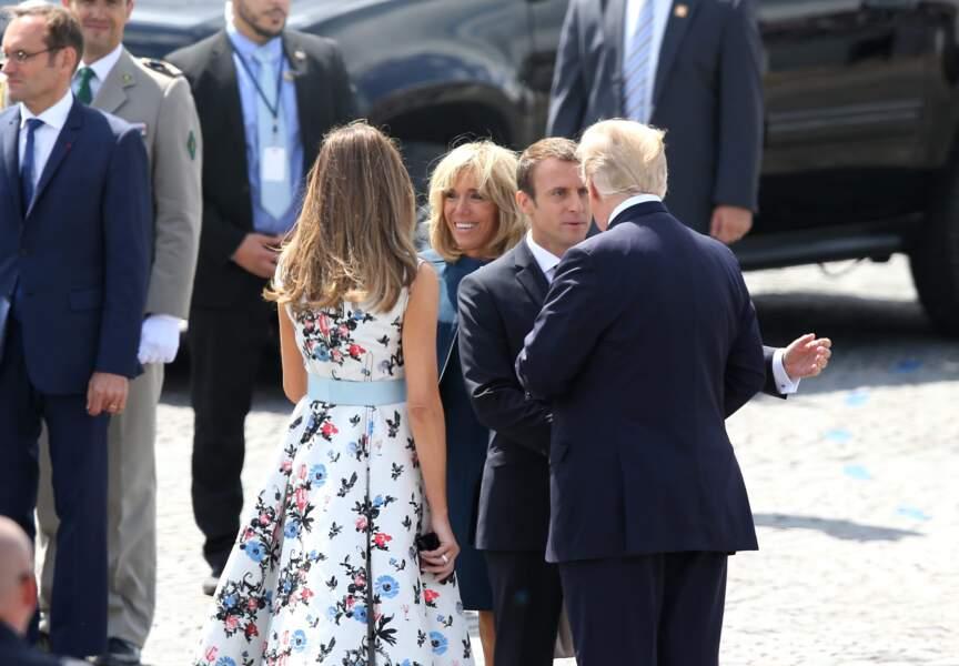 Melania Trump et son époux étaient les invités d'honneur du couple Macron le 14 juillet dernier
