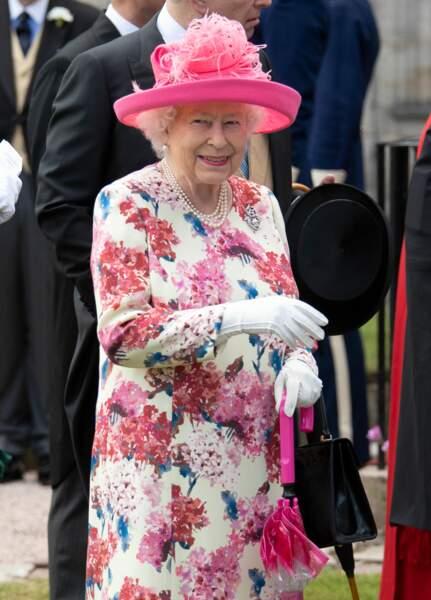 La reine Elizabeth II lors d'une garden party à Edimbourg le 4 juillet 2018