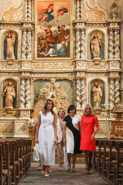 Brigitte Macron était ravie de faire découvrir le patrimoine français à Melania Trump