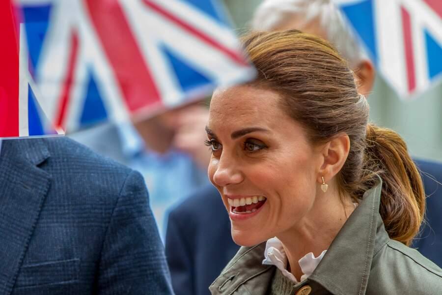 Kate Middleton semblait particulièrement souriante ce mardi 11 juin à Keswick, dans le comté de Cumbria.