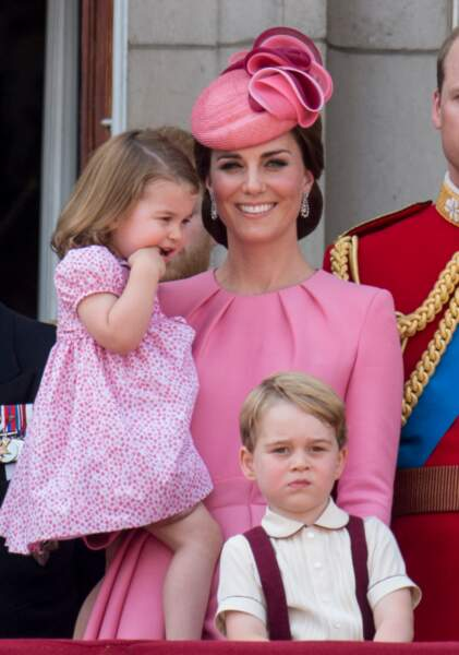 George et Charlotte au Trooping the colour