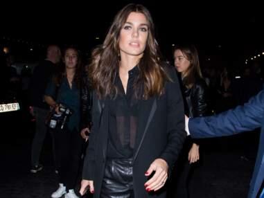 Charlotte Casiraghi en cuir, la fille de Caroline de Monaco très remarquée au défilé Saint Laurent
