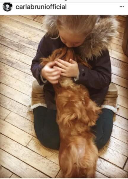 Giulia Sarkozy et son chien, Nastasya