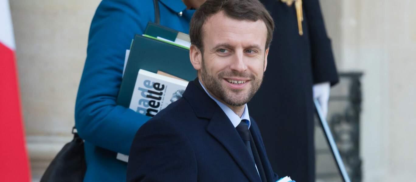 Emmanuel Macron en janvier 2016