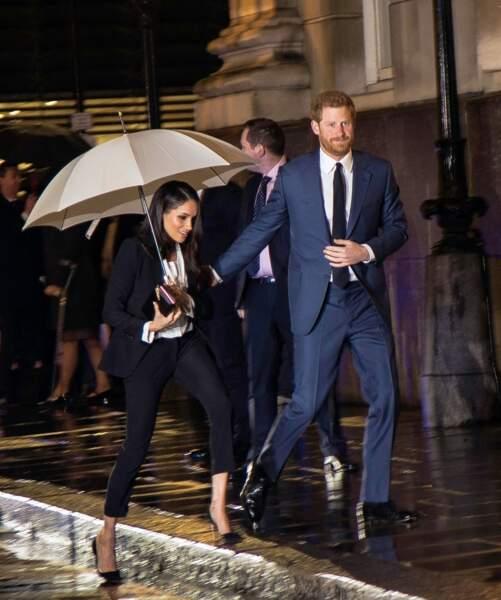 """Harry et Meghan assistent à la soirée """"Endeavour Fund Awards"""" au Goldsmith Hall à Londres le 1er février 2018"""