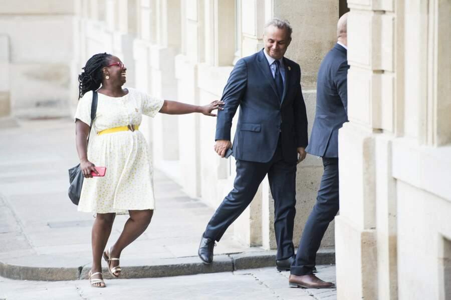 Sibeth Ndiaye en plusieurs looks confectionnés maison 6/10