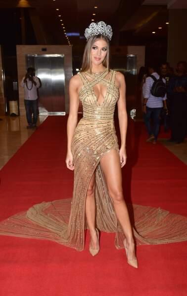 """Iris Mittenaere à la réception """"Miss Diva 2017"""" à Bombay, Inde le 11 octobre 2017"""