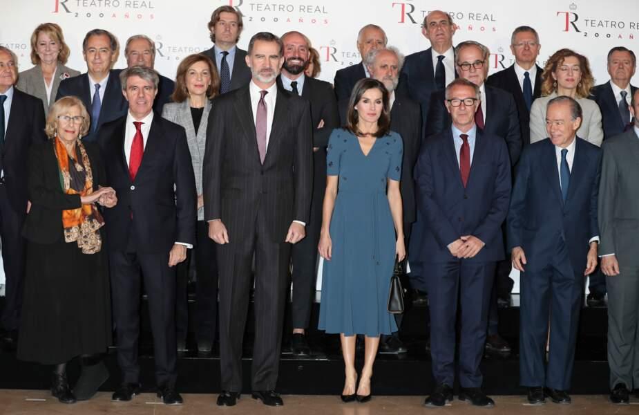 Le look de la reine Letizia d'Espagne a fait sensation lors de cette soirée