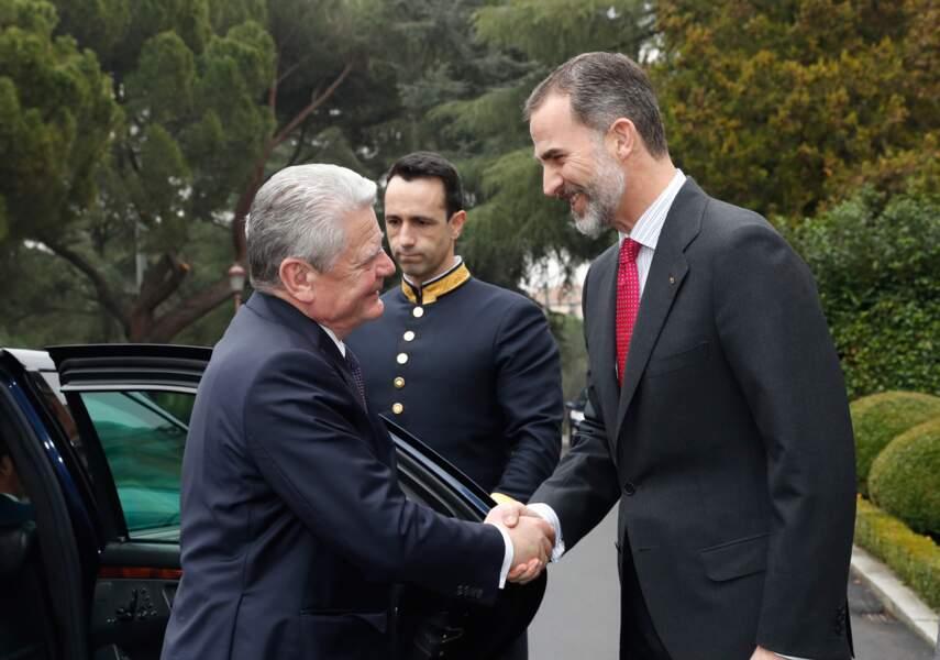 Le roi Felipe VI et le président allemand