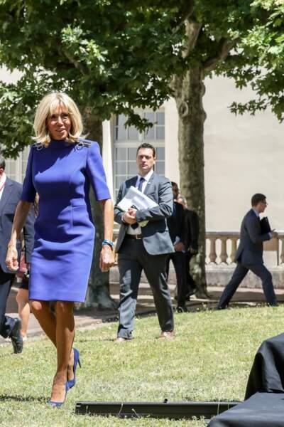 Brigitte Macron lors de la réunion des ministres de l'éducation en marge du G7