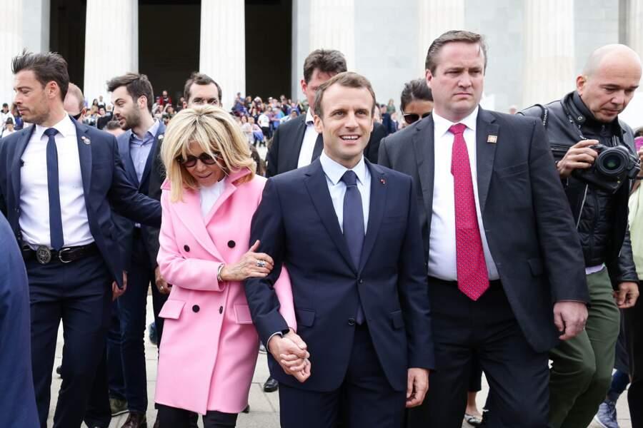 Tristan Bromet (chef de cabinet), Emmanuel Macron et sa femme Brigitte Macron