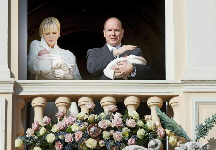 Albert et Charlène de Monaco sur le balcon