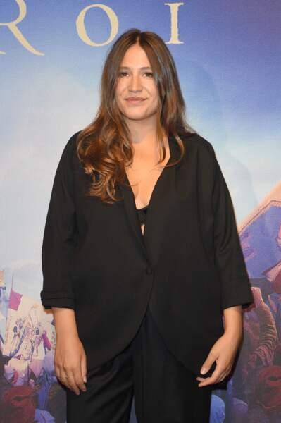 """Izia Higelin à la première du film """"Un peuple et son roi"""", le 13 septembre 2018 à Paris"""
