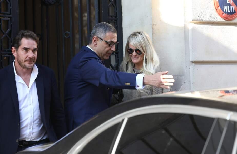 Laeticia Hallyday, son avocat Ardavan Amir-Aslani et Sébastien Farran