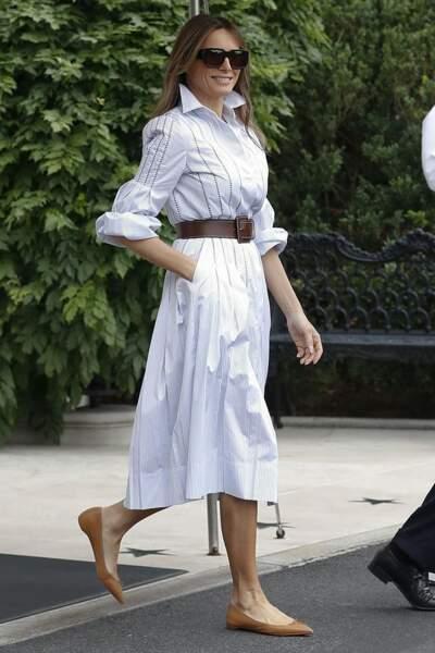 Une robe-chemise Gabriela Hearst à près de 2 000 euros et des accessoires Michael Kors