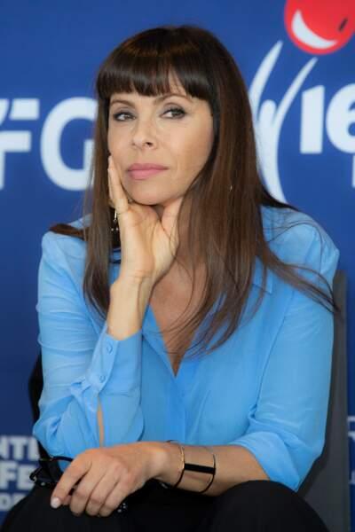 L'actrice française Mathilda May a fait son effet au Festival du Film de Monte Carlo, le 10 mars 2019.