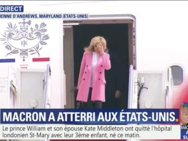 PHOTOS - Brigitte Macron fashionista en manteau rose pour sa rencontre avec Melania Trump