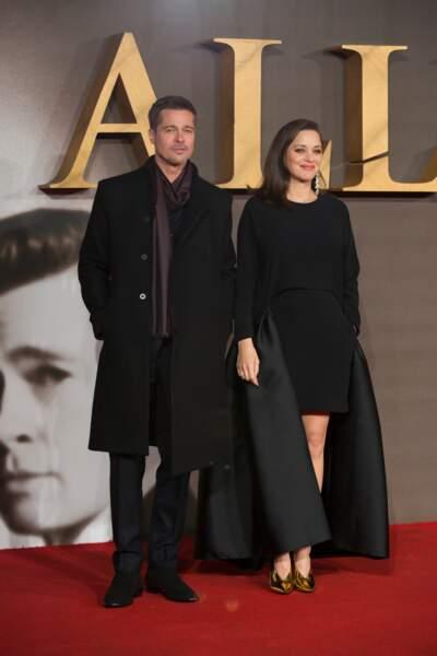 Marion Cotillard et Brad Pitt, sur le tapis rouge