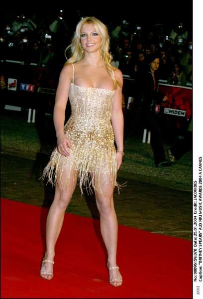 Britney Spears sur le tapis rouge des NRJ Music Awards à Cannes en 2004