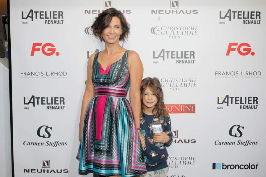 Adeline et leur fille Wilona ont assisté au défilé de prêt-à-porter de Christophe Guillarmé, en octobre dernier