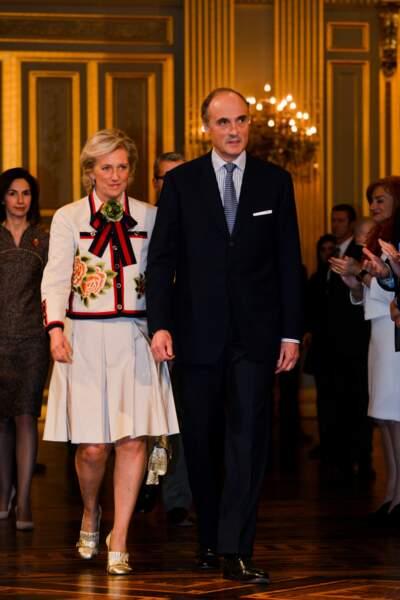 Astrid de Belgique à la présentation des voeux aux différents gouvernements et autorités en Belgique, le 31 janvier