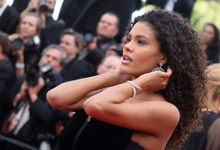 Mannequin international, Tina Kunakey est une habituée du Festival de Cannes depuis 3 ans