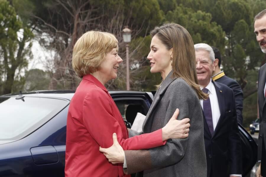Letizia d'Espagne en compagne de la première dame allemande