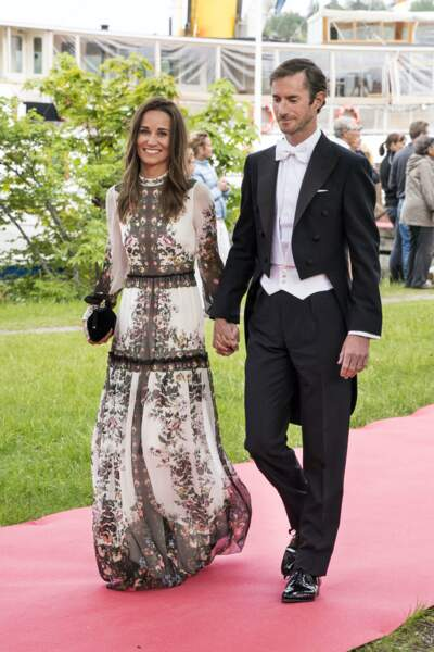 Pippa Middleton et James Matthews au mariage de Jöns Bartholdson et Anna Ridderstad à Stockholm, le 10 juin 2017